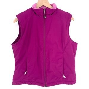 LL Bean Women's Fleece Vest Purple